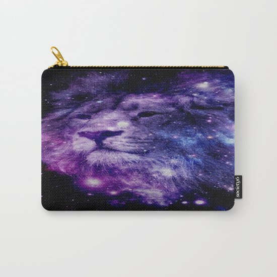 leo lion purple blue Carry-All Pouch