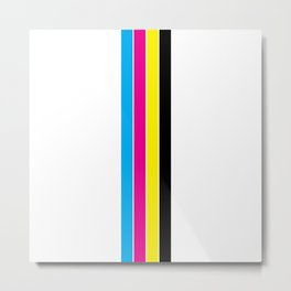 CMYK Stripes Metal Print