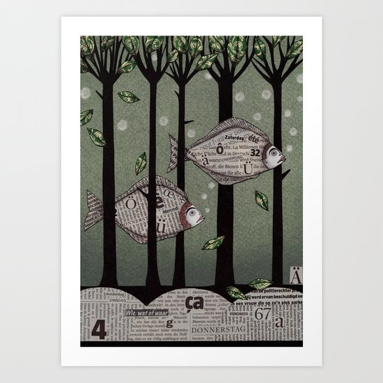 A Fishy Story Art Print