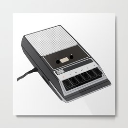 Your Voice Is Currently Being Recorded Metal Print