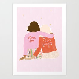 Love Is For Everyone Art Print