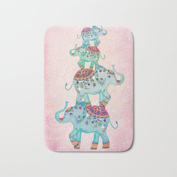 LUCKY ELEPHANTS Bath Mat