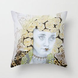 Dreams of Gold Throw Pillow