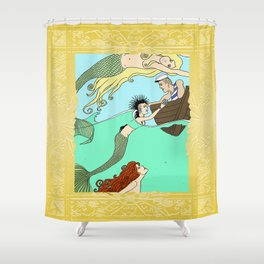 Mermaids At Play Shower Curtain