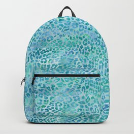 Blue Leopard Print Backpack
