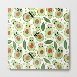Stylish Avocados Metal Print