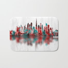 Dubai United Arab Emirates Skyline Bath Mat