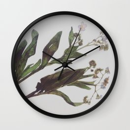 Flowing Lovely Floral Wall Clock