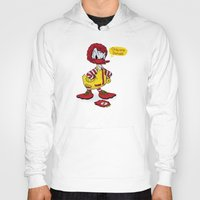 donald duck Hoodies featuring Donald by 2mzdesign