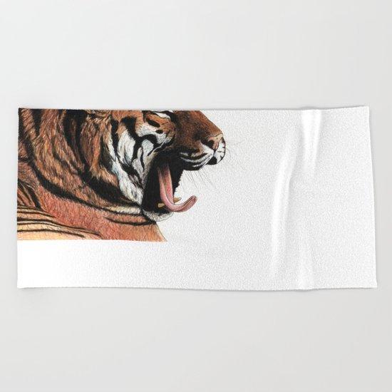 Yawning Beach Towel
