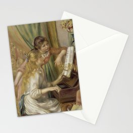 """Auguste Renoir """"Young Girls at the Piano"""" Stationery Cards"""
