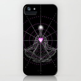 Aligning the mind with the Heart iPhone Case