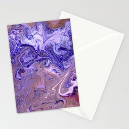 Purple Marble Swirls Stationery Cards