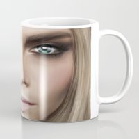 cara Mugs featuring Cara by Anna Sun