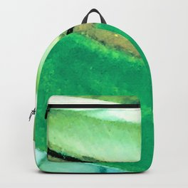 Fine Art Avant-Garde Leaf Close-Up Backpack