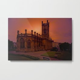 WW2 Bombed out Church Metal Print