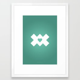 XoX Aqua Framed Art Print