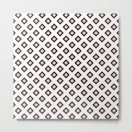 Blush Pink Diamond Pattern | Luxury | For Her | Bedroom | Art Deco Metal Print
