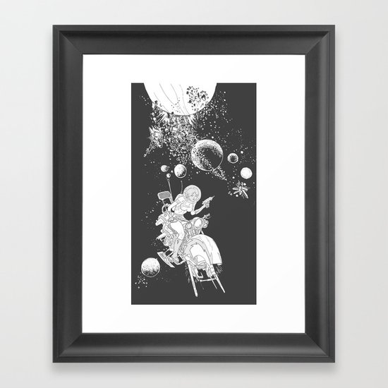 rocket lass Framed Art Print