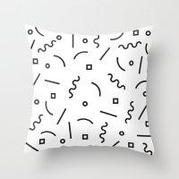 confetti Throw Pillows featuring Confetti by Lumen Bigott