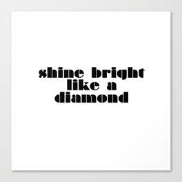 Diamonds Canvas Print