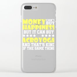 Lovely and Relaxing Acro Yoga Tshirt Design Happiness Acroyoga Clear iPhone Case
