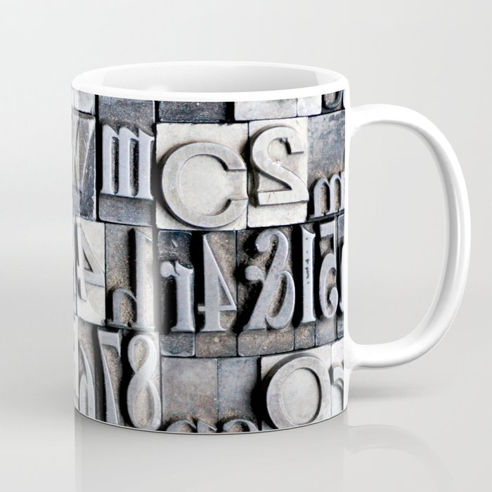 Letterpress Coffee Mug