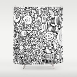 Contraptions 1 Shower Curtain