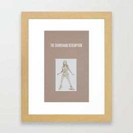 Shawshank Redemption minimalist poster Framed Art Print