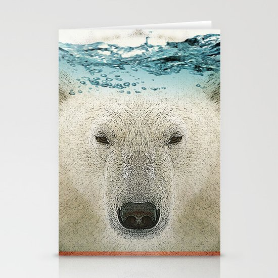 bear line Stationery Cards
