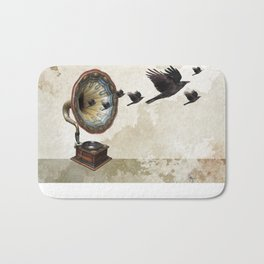 the sound of crows Bath Mat