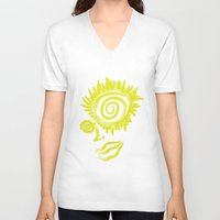 trippy V-neck T-shirts featuring Trippy Talula by Gira Patel