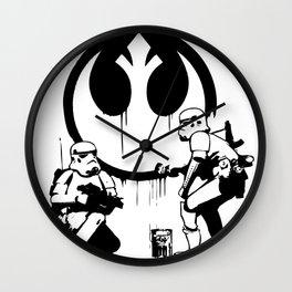 Banksy Troopers Wall Clock