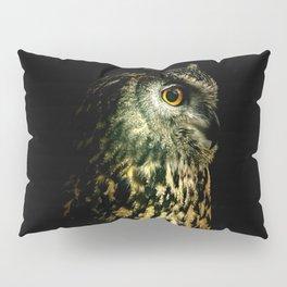 Eagle Owl Portrait Pillow Sham