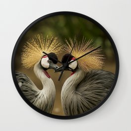 Pretty birds in love Wall Clock