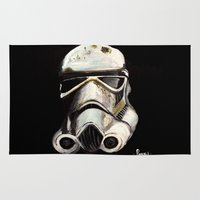 storm trooper Area & Throw Rugs featuring Storm Trooper by Panxy_Art