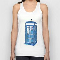 tardis Tank Tops featuring Tardis by Stepharooskie