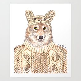 Wolf in Sheep Clothing Art Print