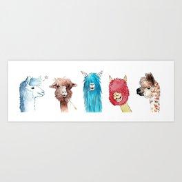 Team Alpaca Art Print