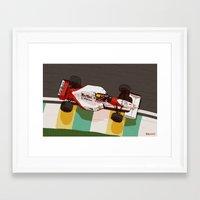 senna Framed Art Prints featuring Senna by Bruno Gabrielli