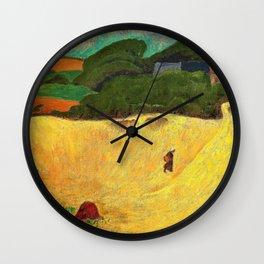 The Beach Of Les Grands Sables At Le Pouldu - Paul Serusier Wall Clock