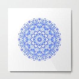 Mandala 12 / 1 eden spirit indigo blue Metal Print