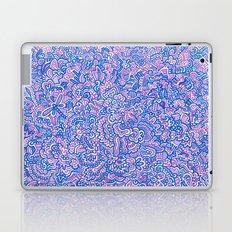 Blue Violet Doodle Laptop & iPad Skin