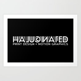 Halucinated Logo Art Print