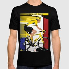 Grand Depart Yorkshire Tour De France  X-LARGE Black Mens Fitted Tee