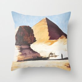The Great Sphinx And Pyramid Throw Pillow