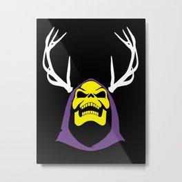 Skeletor Antlers Metal Print