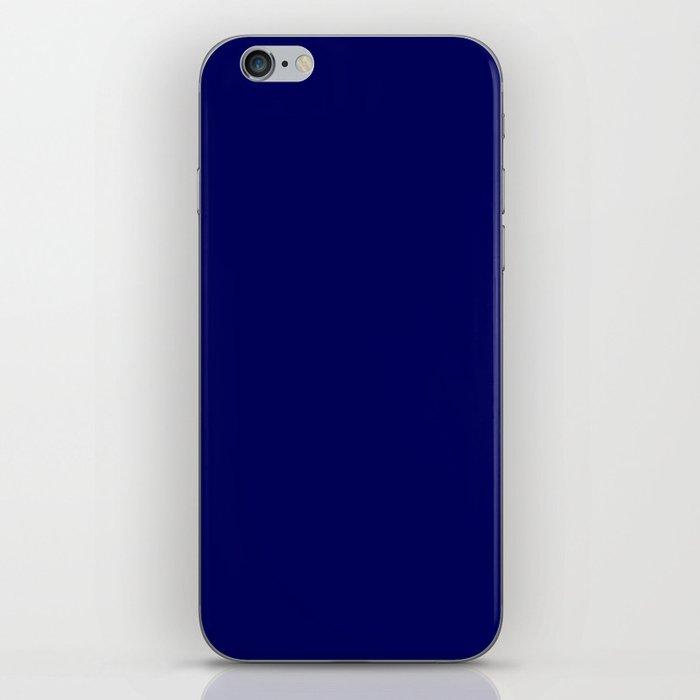 Navy Blue iPhone Skin