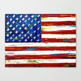 united states painting Canvas Print