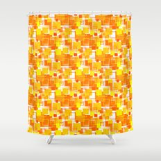 Mid-Century Modern - Orange Shower Curtain
